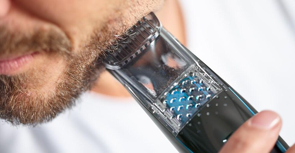 Houd je badkamer netjes met de nieuwe baardtrimmer met vacuümsysteem  Philips # Wasbak Haren_193205