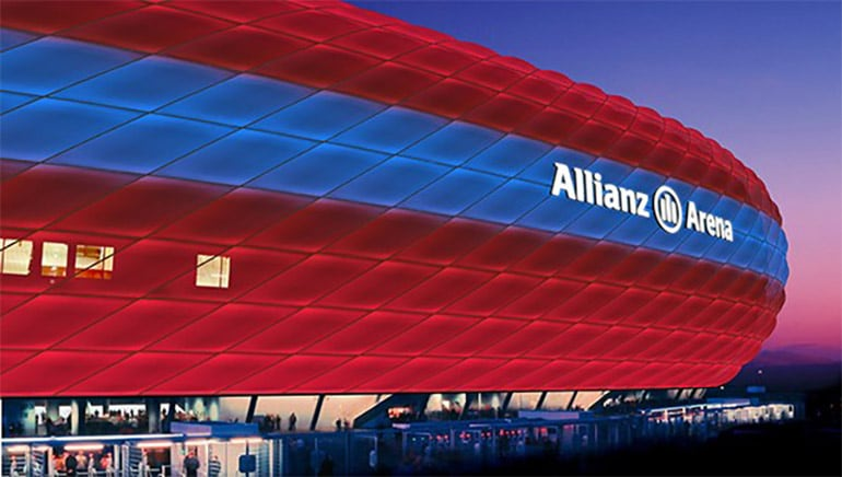 FC Bayern Munchen Allianz Arena Philips LED Lighting Light Sports