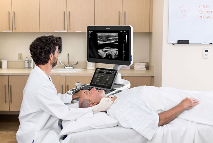 The Philips EPIQ Elite ultrasound system.