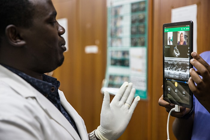 Philips Lumify with Reacts links specialists around the globe with physicians in Rwanda