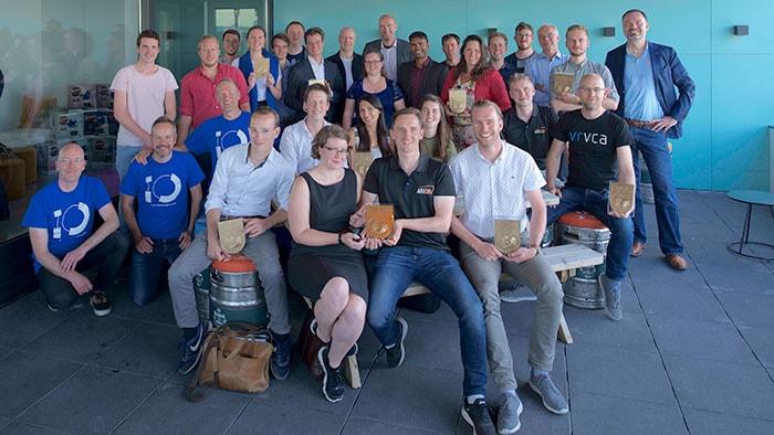 De winnaars van de Gerard en Anton Award in het Microlab op Strijp-S