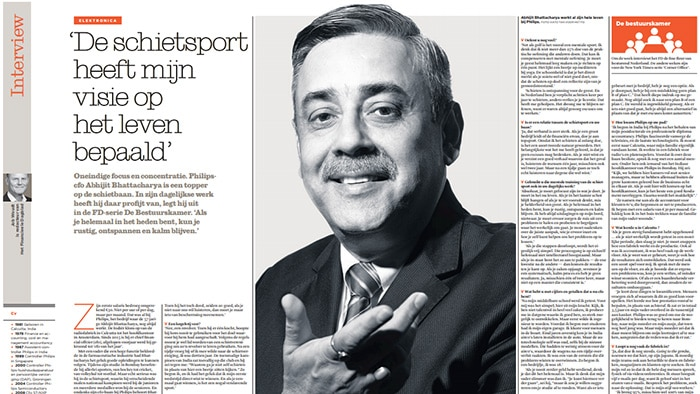 "Financiele Dagblad: ""Philips-CFO Abhijit Bhattacharya is een topper op de schietbaan"""